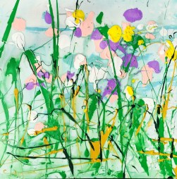 Abstract Flowers of Yellow & Purple