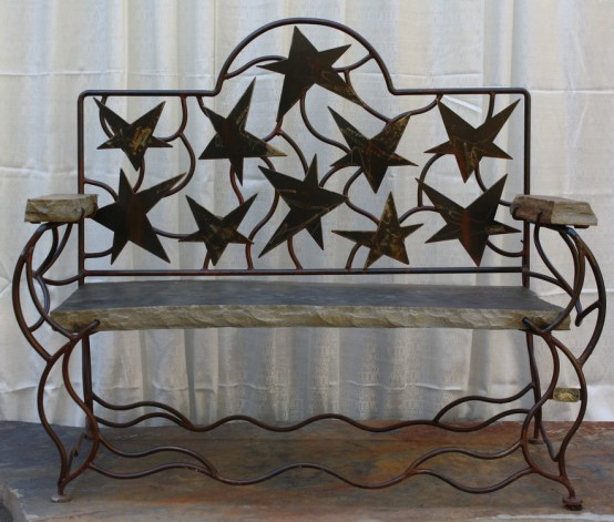 Double Bench with Stars