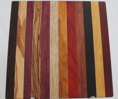 Multiple Exotic Wood Cutting Board