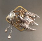Time Flies Victoriana Pin