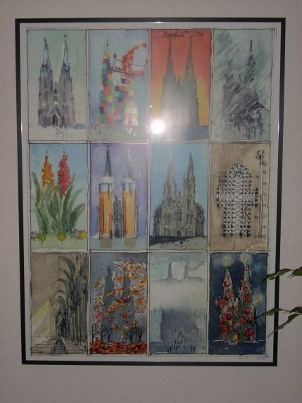 Posterbild mit den Kalenderblättern