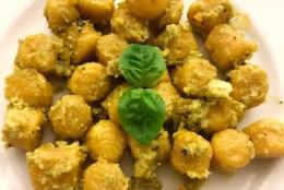 Kürbis Gnocchi mit Gemüse Pesto – für wählerische Kleinkinder