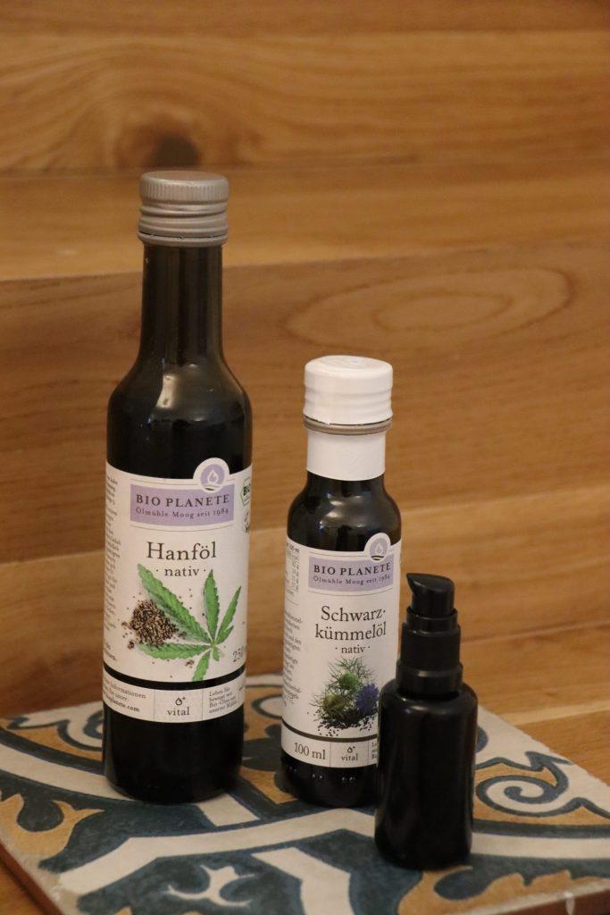 bio planète hautpflege hanföl schwarzkümmelöl