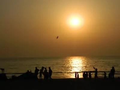 Juhu Beach during Sunset