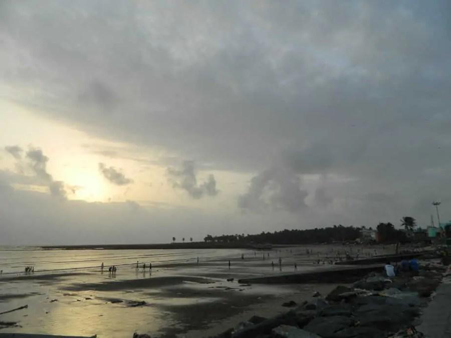 View of Gorai Beach during Sunset.