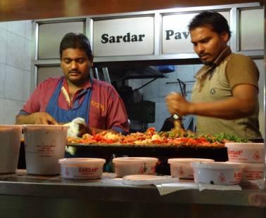 Making Pav Bhaji