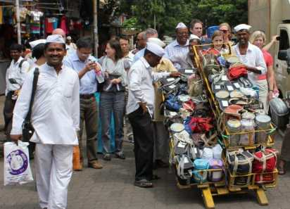 see the dabbawala in Mumbai