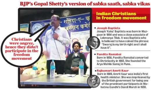 A video grab of Shetty's speech in Malvani on Sunday