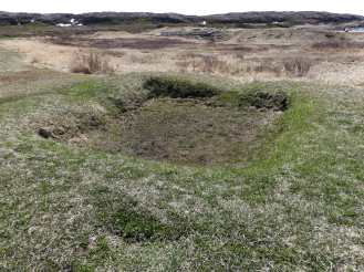 All that remains of the actual Norse settlements...