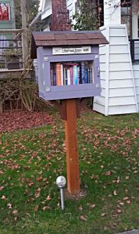 A Little Free Library in a Seattle neighborhood.