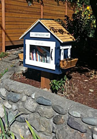 Another Little Free Library in a Seattle neighborhood.