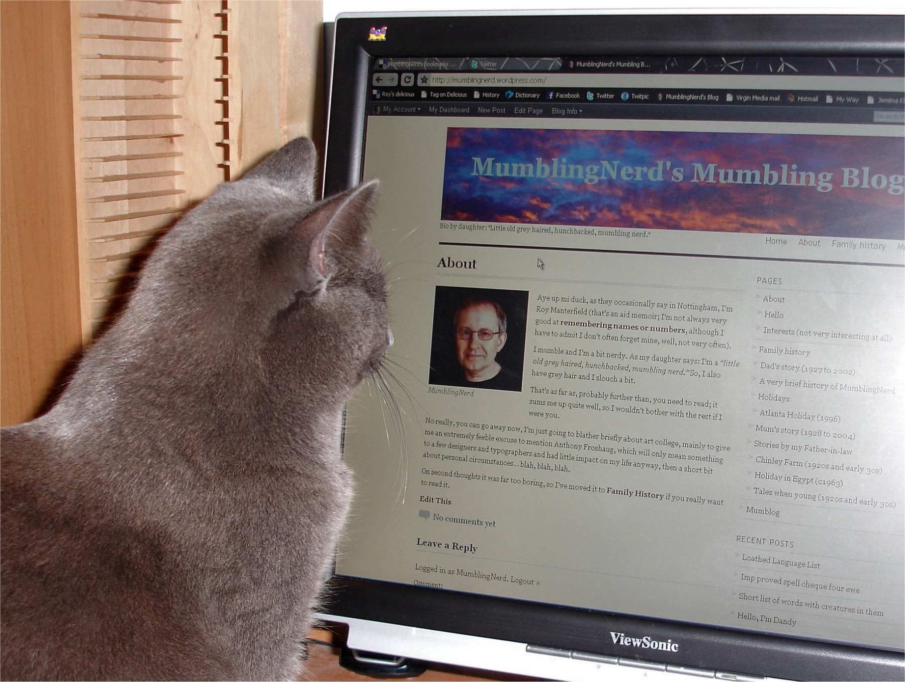 Max reads Roy's blog