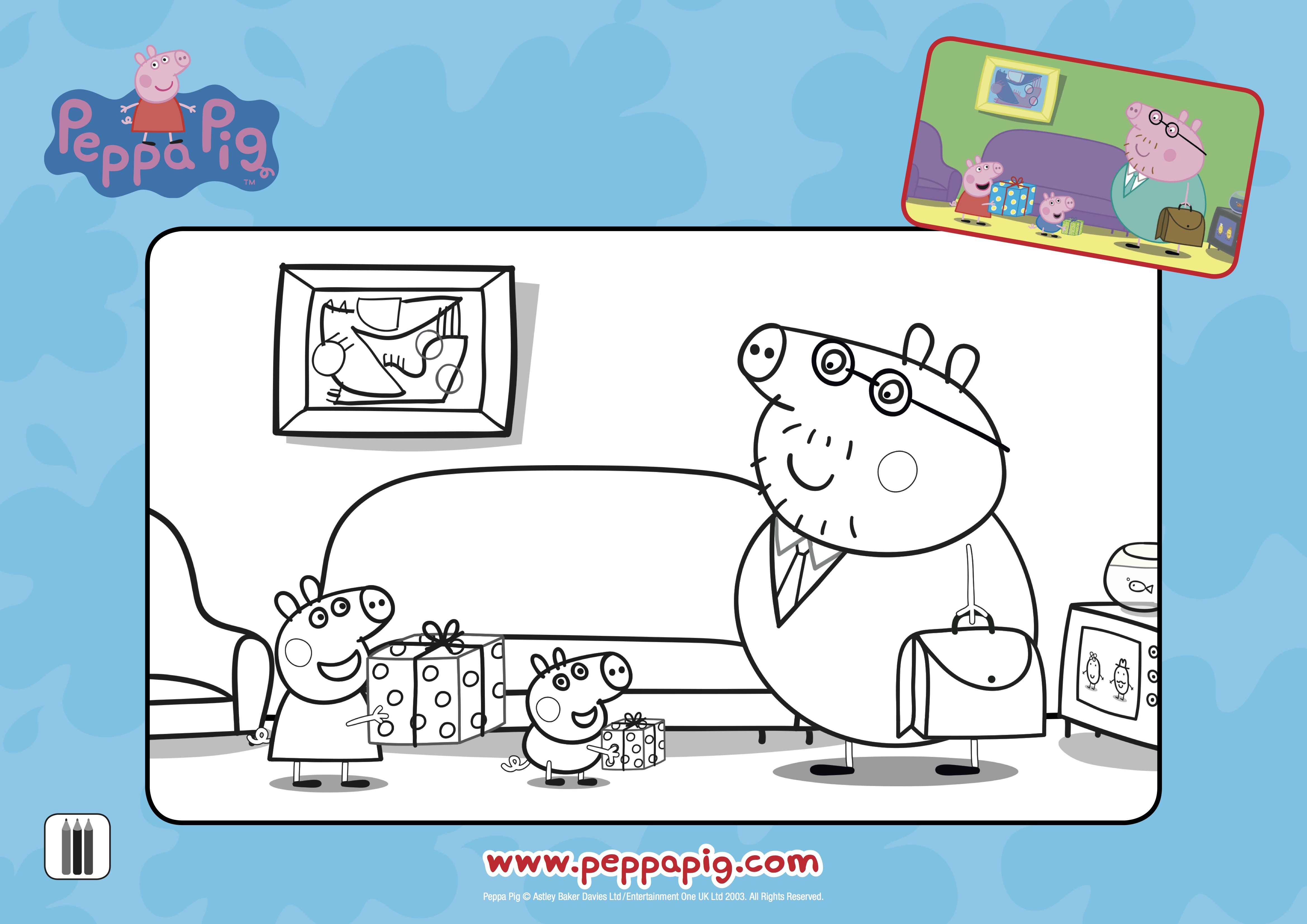 Peppa Pig Prizepacks And Colouring In Printables For Dad