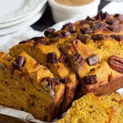 Healthy Pumpkin Banana Bread