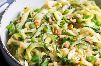 Almond Butter Sesame Zucchini Noodles