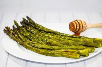 Ninja Foodi Grill Honey Asparagus