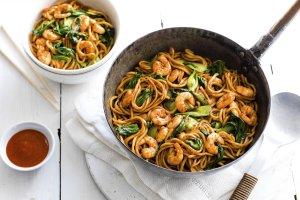 spicy prawn noodle stir fry recipe