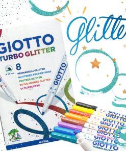 giotto TURBO GLITTER POR 8 mumi diseño divertido