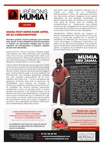 Tract « Mumia peut enfin faire appel de sa condamnation ! » (A4 – Mai 2019)