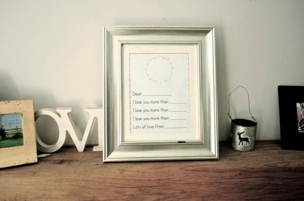 Mothers day print off with a link to the website