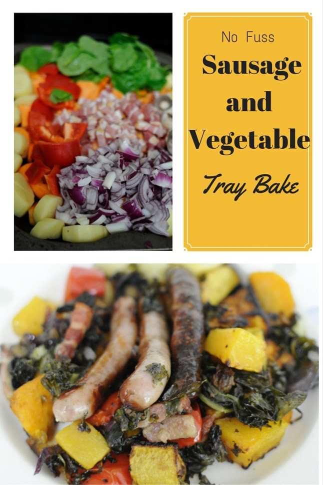 No Fuss Sausage and Vegetable Tray Bake