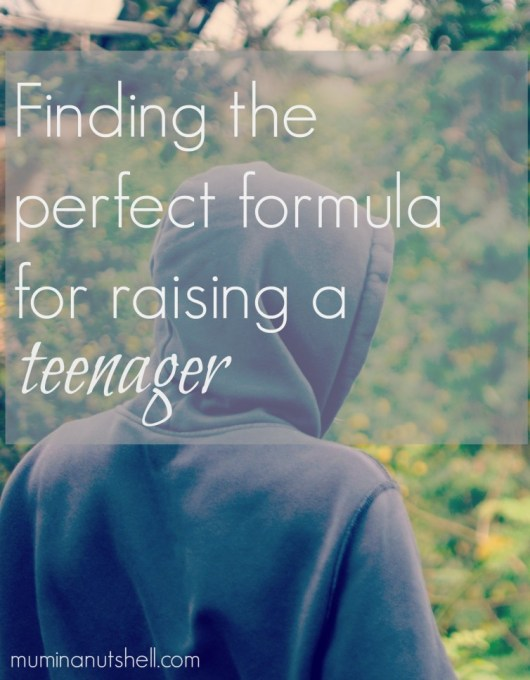 what is the perfect formula for raising a teenager? is there  one? It can be one of the hardest but most rewarding years. You're near the finishing sight but you don't want to trip at the final hurdle.
