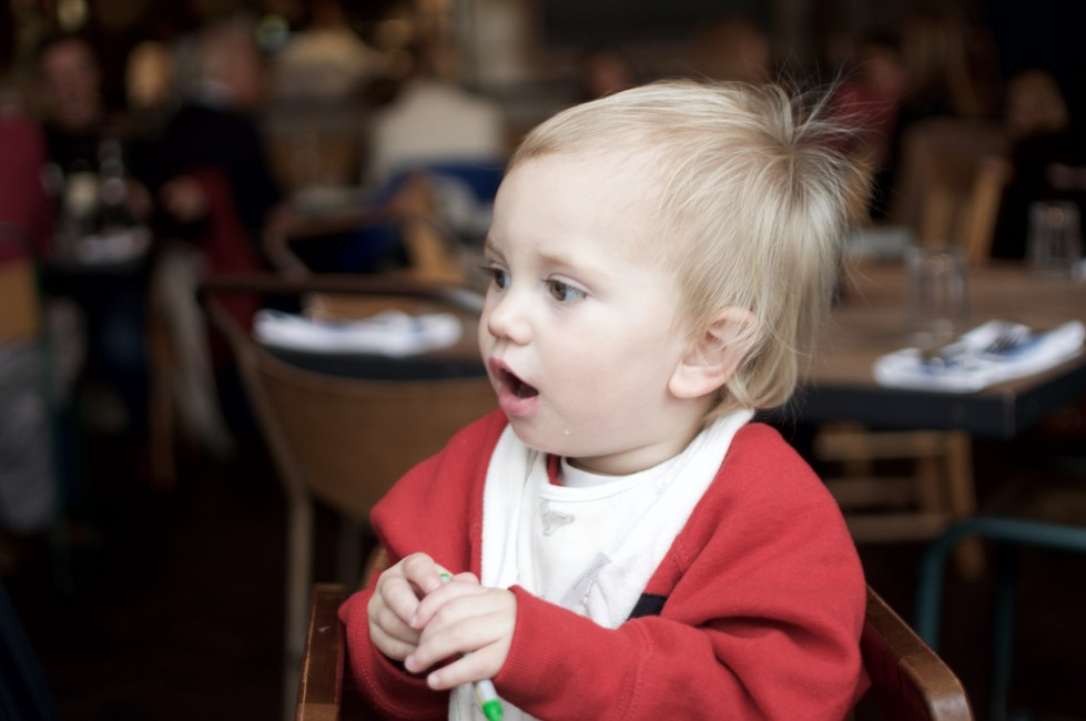 Are toddlers in restaurants a social no no? should dining out with kids be confined to family friendly defined places or should restaurants be welcome to all ages?