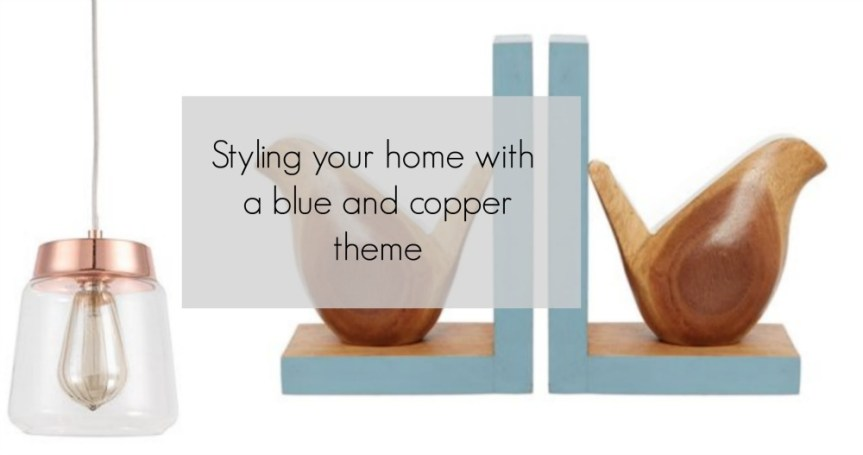 Accessorising your home in Blue and Copper With House Of Fraser