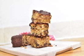 A recipe for chocolate oat squares, a tasty and filling treat any time of the day