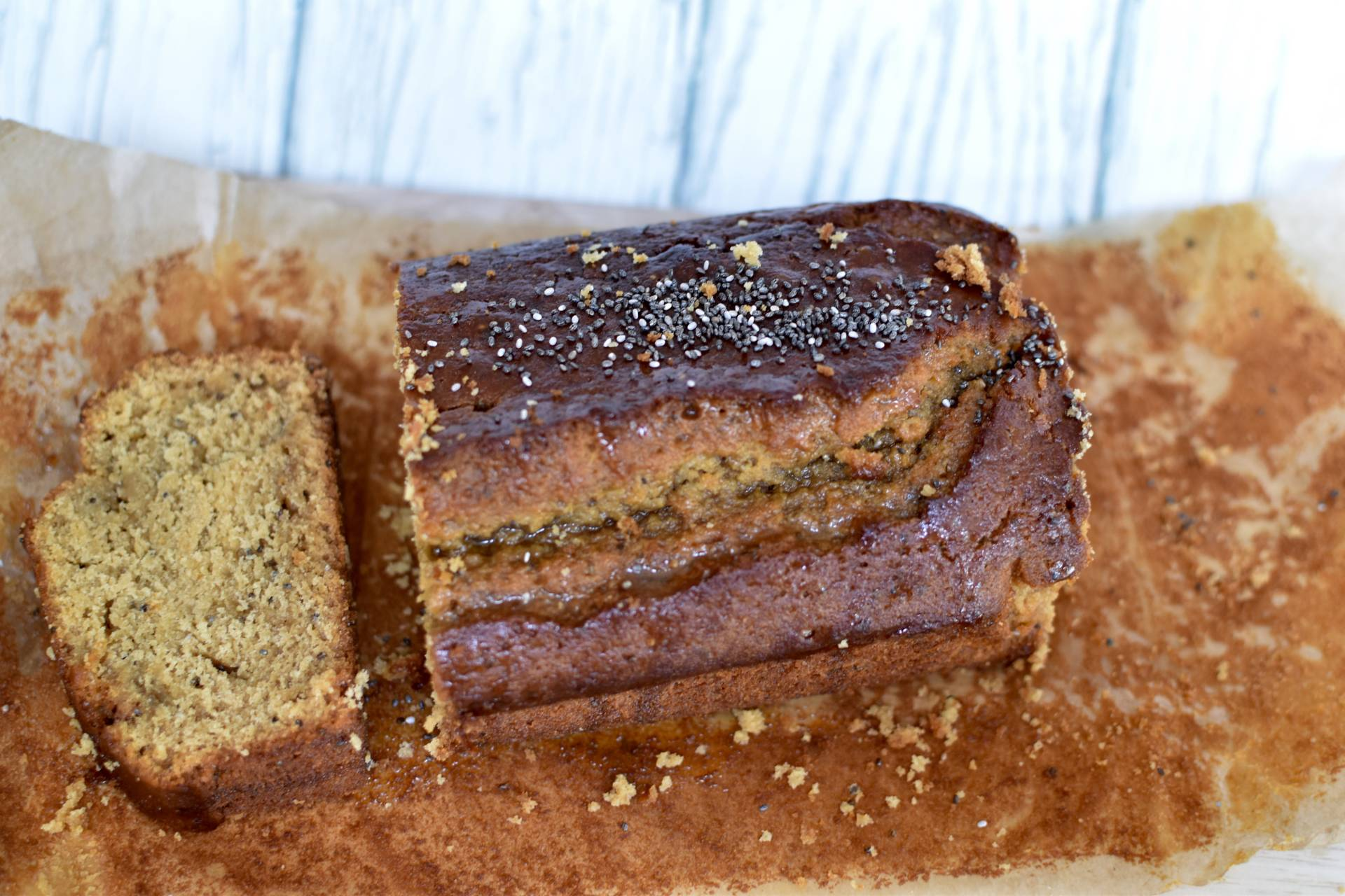 this honey and chia seed loaf cake has got to be one of the healthiest cakes you can make, this recipe uses the super food Manuka Honey as a glaze giving it extra super powers!