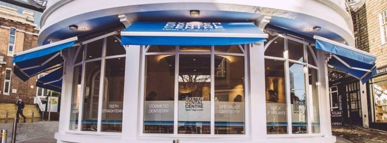 the `Exeter Dental Centre where I' getting my ceramic braces fitted