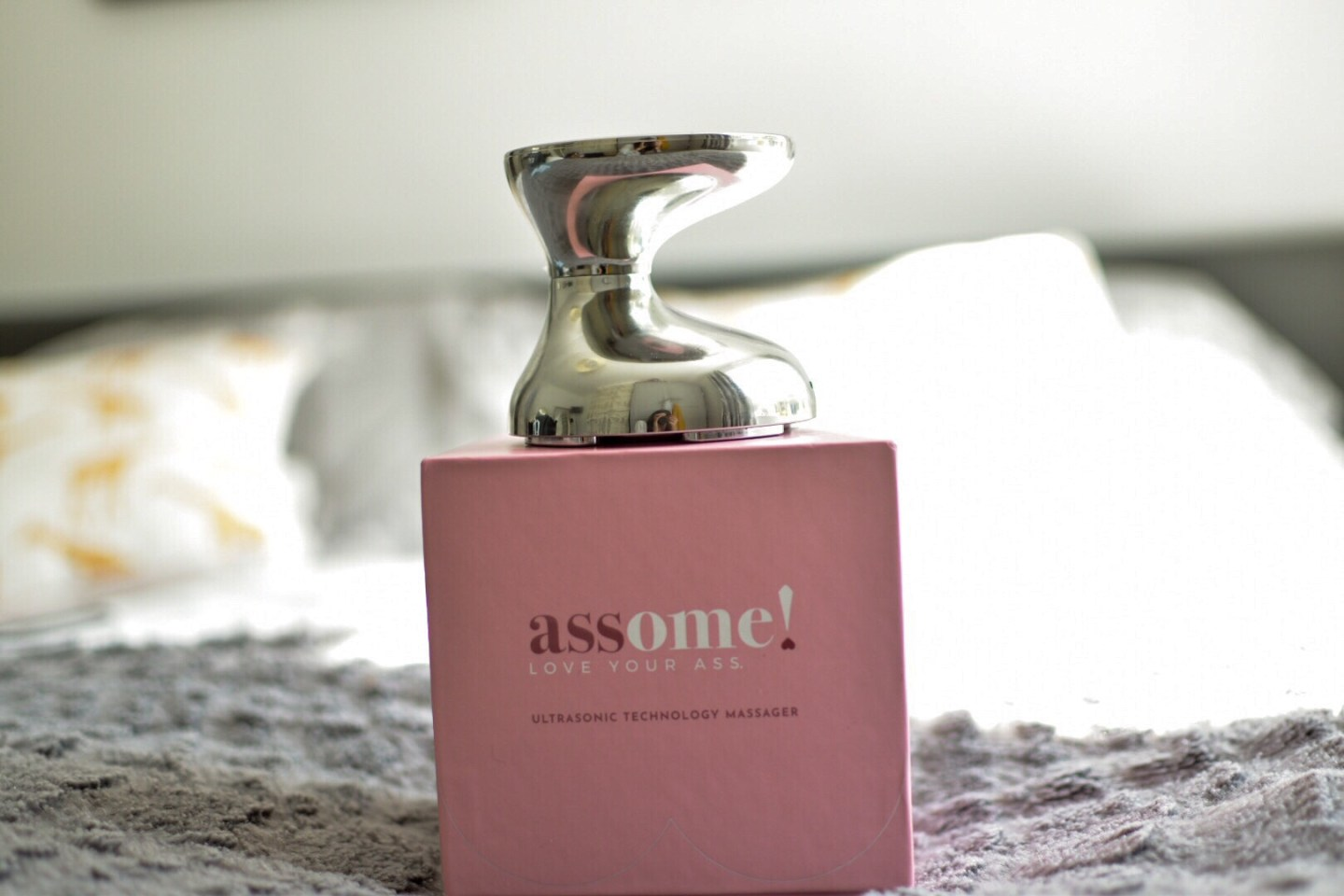testing out the Introducing the ASSOME! Ultrasonic Massager to help achieve the perfect bum