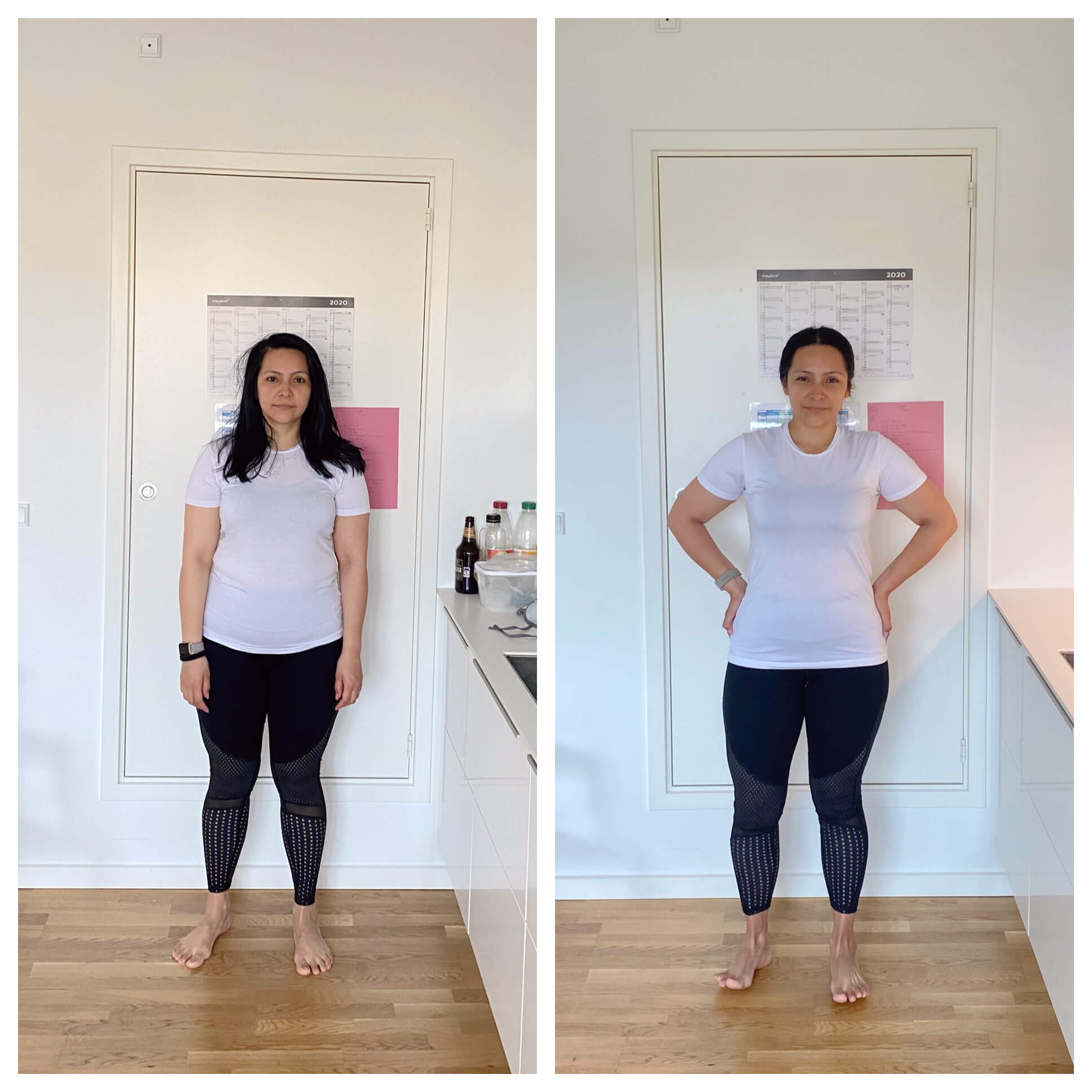 Julie before and after picture, weigh loss
