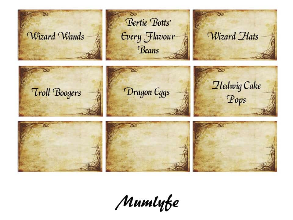 Harry Potter Food Labels To Download And Print Mumlyfe