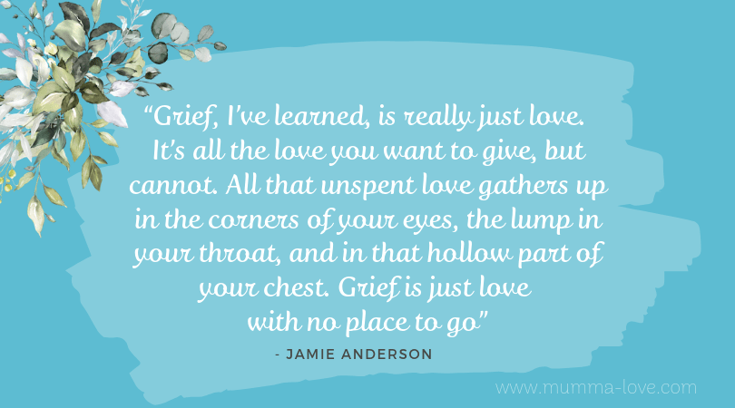 Image of a Grief and love quote by Jamie Anderson