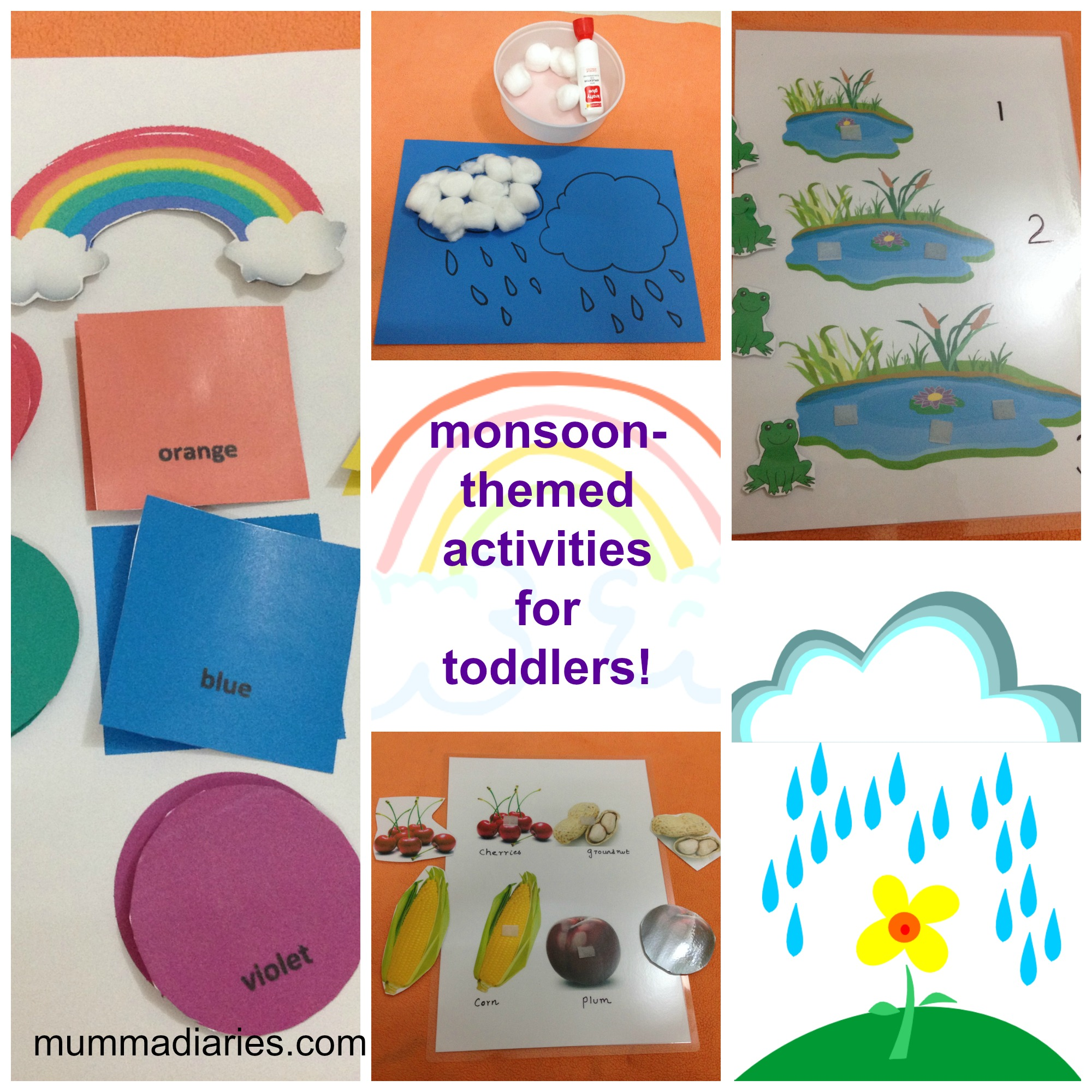 Rainy Season Themed Activities For Toddlers