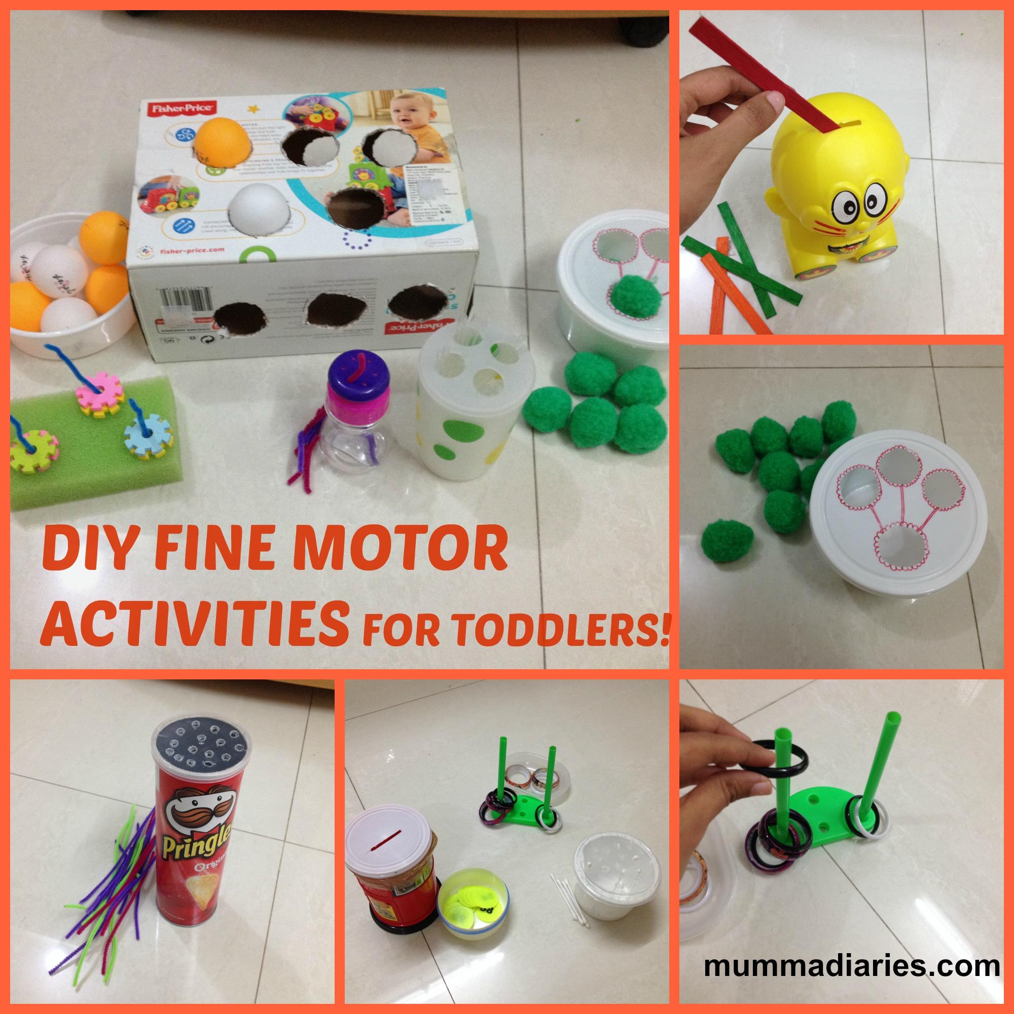 Fun Simple Diys Fine Motor Skill Activities For Toddlers