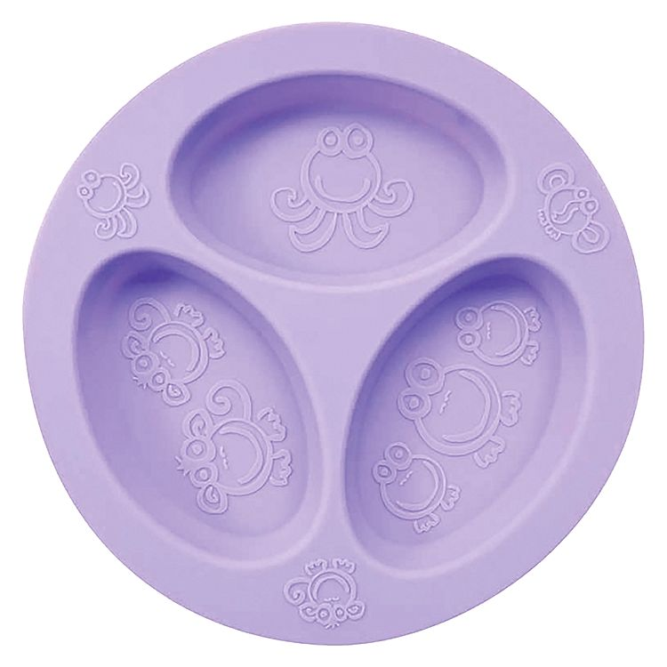Divided plate - Make dinnertime easier with the divided sections of this highly durable and non-toxic high-grade European silicone divided plate. The divided sections ensure food isn't touching.
