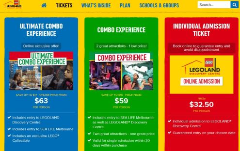 Legoland Ticket Prices