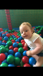 First time in the ball pit at softplay