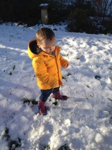 Playing in the snow for the first time