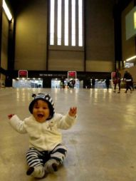 We had 2 trips to the UK ( we live in Uganda now)... this is Tates trip to the Tate Modern. We had a really special time seeing friends and family... and running the gauntlet of moving around the UK/ London on the train and visiting many homes!