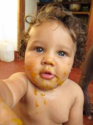 We started our year with weaning! Messy and fun and Tate loved his new foods... all of them!