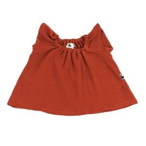 Bluse – Musselin – rostorange
