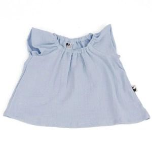 Bluse – Musselin – himmelblau