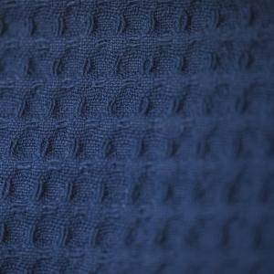 doppellagiges Tuch – jeansblau – spitz