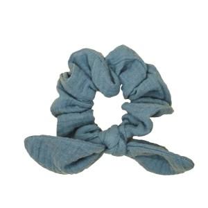 SchleifenScrunchie – jeansblau