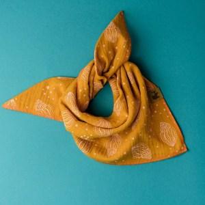 Musselintuch – Muscheln – rostorange – Baby