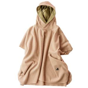 Badeponcho – Frottee – altrosa