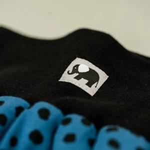 Pumphose – Punkte – jeansblau